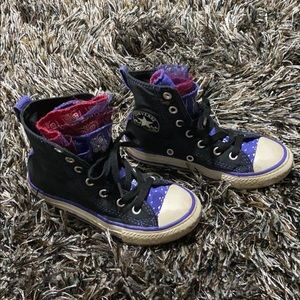 Kids Multiple tongue Converse All Star sz 11